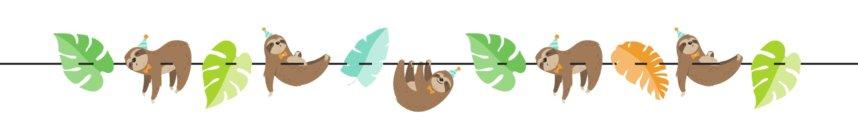 Girlande mit Faultieren für Dschungelparty