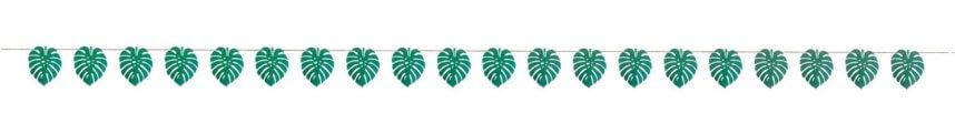 Grüne Palmblatt Girlande für die Dschungelparty