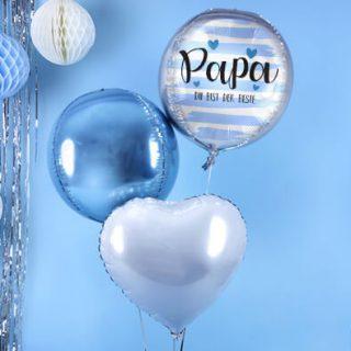 Blaue Helium-Luftballons Geschenkideen Vatertag